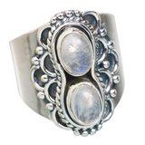 New - Rainbow Moonstone 925 Sterling Silver Ring - Size 7 in Alamogordo, New Mexico