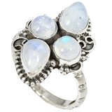 New -  Rainbow Moonstone 925 Sterling Silver Ring - Size 6.5 in Alamogordo, New Mexico