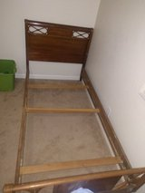 Twin Wooden Bedframe & Box Spring in 29 Palms, California