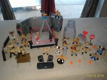 WWE Rumblers Transforming Tour Bus Complete Set w/ 25 Wrestler Action Figures in Ramstein, Germany