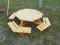 Child's octagon picnic table in Camp Lejeune, North Carolina