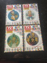 4 Simpsons TV Guides - Holiday with Hologram Ornaments on Each - 2004 in Naperville, Illinois