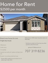 New home for rent near Travis AFB in Travis AFB, California