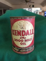 Kendall oil can metal (OLD) in Fort Leonard Wood, Missouri