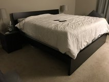 IKEA Malm King size bed frame in Tinley Park, Illinois