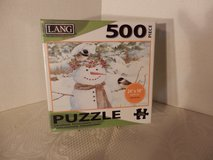 "Sealed 500 Pc. Puzzle ""Chickadee Snowman"" in Joliet, Illinois"