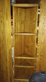 Corner oak shelfs in Fort Lewis, Washington