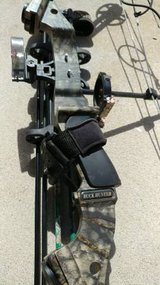 Parker buck hunter compound bow and target cube in Camp Pendleton, California