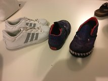 Lot of two kids shoes Vans & adidas size US 10 in Okinawa, Japan