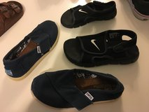 Lot of two kids shoes size 11 TOMS & Nike in Okinawa, Japan