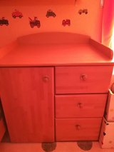 Childrens Bedroom Set // 7 pieces // real wood // changing table, crib, dressers, bunk bed in Ramstein, Germany