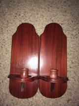 2 very nice wooden wall hanging candle holders in Wright-Patterson AFB, Ohio