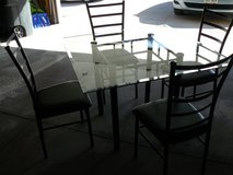 Glass-top Metal Table with Chairs in Brookfield, Wisconsin