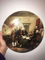 very nice American bicentennial collectors plate in Wright-Patterson AFB, Ohio