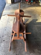 beautiful antique wooden rocking horse in Wright-Patterson AFB, Ohio