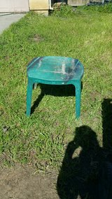 Small plastic table in Vacaville, California