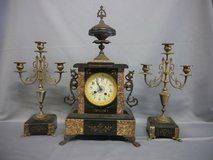 france Clock with 2 candelabers ( Nr.18Feb12) in Ramstein, Germany