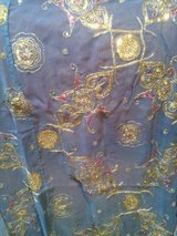 2 Delicate, Detailed, Blue, Gold, Pink, Sari curtain, semi sheer panels, Indian in Westmont, Illinois