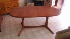 "Table 2 leafs 6 chairs 64x41"" w/o leafs in Fort Riley, Kansas"