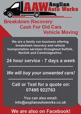 Vehicle Recovery Service & Cash For Cars - Suffolk, Norfolk & Cambridgeshire in Lakenheath, UK