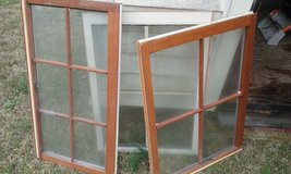 Wood framed windows,asst. Sizes in Cherry Point, North Carolina