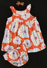 Carter's 9 Month Dress with diaper cover and bow in Elgin, Illinois