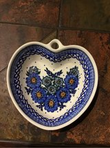 polish Pottery heart in Ramstein, Germany