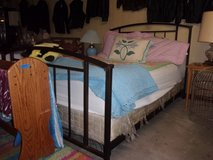 Metal Frame Complete Queen Size Bed in Fort Riley, Kansas