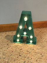 Light-Up 'A' Sign in Naperville, Illinois