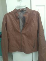 Women's Brown Faux Leather Jacket Size Medium in Fort Bragg, North Carolina
