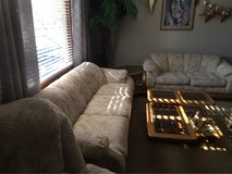 COUCH,LOVESEAT, ROCKER/Recliner, Square Coffee Table, 2 Nesting Tables... in Naperville, Illinois