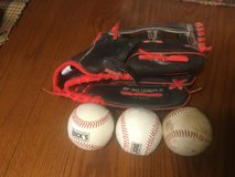 RBX adult 12 inch baseball or softball glove excellent condition. Comes with either 3 hard baseb... in Chicago, Illinois