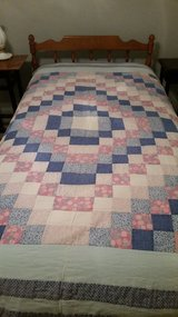 Quilt, blue, pink squares in Naperville, Illinois