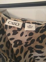 Women's Cato Leopard Print Dress Shurt Size XL in Fort Bragg, North Carolina
