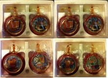 Garfield Heirloom Porcelain Christmas Ornaments - set of 8 in Batavia, Illinois