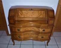 Antique 1800s French Rosewood Inlay Secretary Desk in Ramstein, Germany