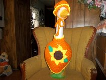 Sunflower Geese Goose Crochet Outfit Dress Outdoor Decor Lawn Goose Clothes in Belleville, Illinois