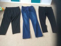 3 PAIRS. OF MATERNITY BOTTOMS/ TROUSERS in Lakenheath, UK