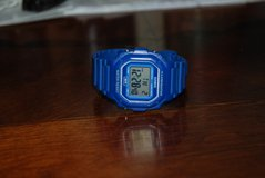 Men's Casio ( g-shock like) watch BLUE water resistant in Fort Polk, Louisiana