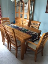 dining room table, chairs and hutch in Shorewood, Illinois