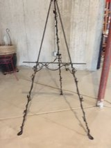 Large wrought iron picture display holder in Chicago, Illinois
