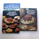 3 VTG Microwave Cookbooks: Alcan, Toshiba, Wards in Wheaton, Illinois