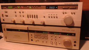 Vintage harman/kardon hk580i receiver and harman/kardon cd291 cassette deck in Joliet, Illinois