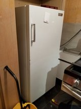 Vintage MCM Philco White Refrigerator with inside small freezer Turquoise interior in Westmont, Illinois