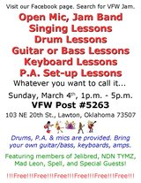 Learn To Sing, Play The Drums or Guitar or Bass, etc. in Lawton, Oklahoma