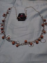 Beautiful Red Necklace set in Fort Lewis, Washington