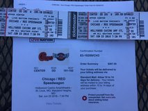 Chicago /REO Speedwagon concert tickets in Fort Leonard Wood, Missouri