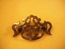 """NOS - Vintage Chippendale Brass Drawer Pulls - by BPC - 4"""" Wide - 2 1/2"""" Boring in Cherry Point, North Carolina"""