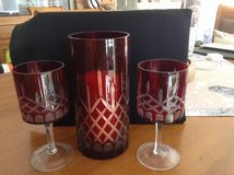 Glass Hurricane with matching Candleholders in Lawton, Oklahoma