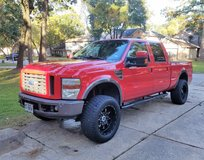 "2008 Ford F250 FX4 Super Duty Crew Cab Power Stroke Diesel Truck 6"" Life 4 Door Red 4x4 Leather in Kingwood, Texas"